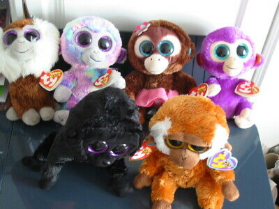 6 X Ty Beanie Boos Monkey Bundle (all With Tags) • 9.90£