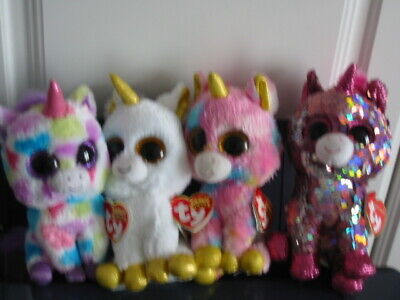 4 X Ty Beanie Boos/flippable Unicorn Bundle (all With Tags) • 6.95£