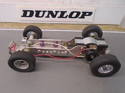 1960's 1/24 K+B Aurora Chassis With Super Challenger Motor - Very Good  • 32£