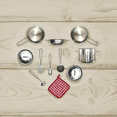 Teamson Kids TK-M00001 Stainless Steel Cooking Accessory Set, Multi-Colour • 32.99£