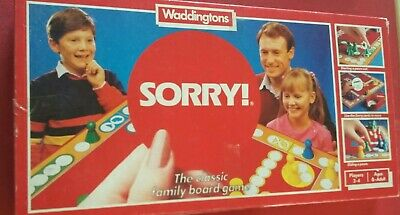 Sorry. Vintage 1985 Waddingtons Classic Board Game. Family Fun.  • 4.99£