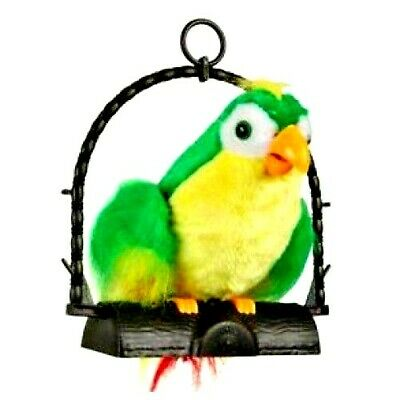 Talking Parrot Moves & Repeat Imitates Your Voice Joke And Fun Toy Gift Uk • 14.99£