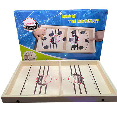 Wooden Hockey Game Table Game Family Fun Game For Kids Children 100% NEW • 10.89£