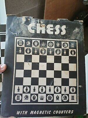 Chess Board With Magnetic Counters  • 1.50£