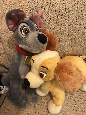 Lady And The Tramp Soft Plush Toys Disney Store  • 3.70£