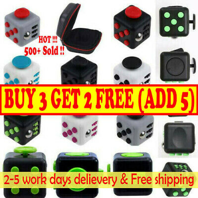 Fidget Cube Spinner Toy Children Desk Adults Stress Pressure Relief Cubes AD UK! • 5.97£