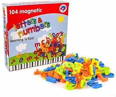 104pcs Magnetic Numbers & Letters Educational Toys Fridge Magnets Spelling Maths • 8.45£
