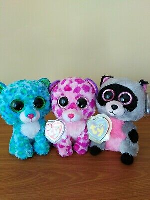 Ty Beanie Boos Bundle Of Three, Leona, Glamour And Rocco • 12£