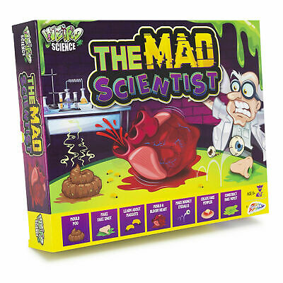 Mad Scientist Weird Science Childrens Chemistry Experiment Set Kit Kids Toy 0001 • 7.95£