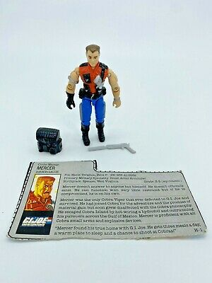 G.I. Joe, MERCER. Version 1, 1987 Action Figure, Complete With Card, 1980s, V1 • 39£