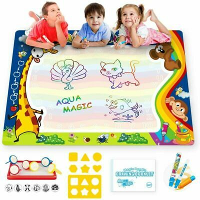 Aqua Water Doodle Mat Large 100*80 Cm With 3 Magic Pens For Kids Multicolor • 20.79£