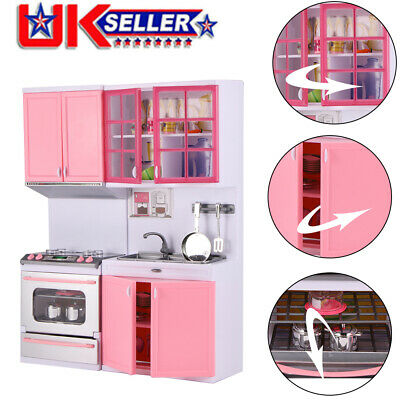 Kids Kitchen Toys Girls Role Play Pretend Set Toy Pink Creative Children's Gift • 18.98£
