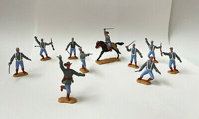 Set Of 10 TIMPO Toys American Confederate Soldiers ALL Complete With Weapons | • 34.99£