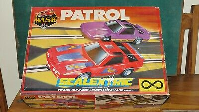 Scalextric Boxed Complete Mask Patrol Full Working Track + 3 Extra Racing Cars  • 25£
