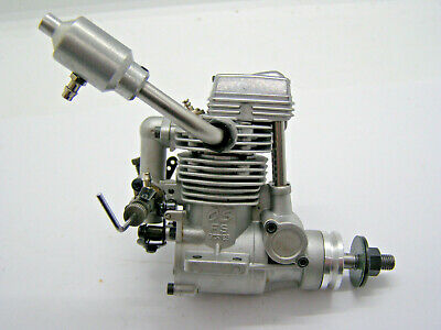 OS FS26 Surpass Four Stroke Model Engine With Exhaust - Fully Serviced • 39.99£