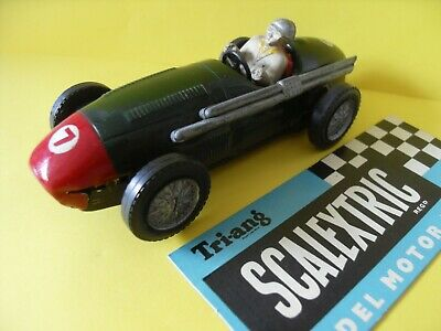 Vintage Scalextric Tinplate Maserati 250F Racing Car Complete, Working Condition • 54.95£