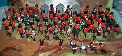 Britains Plastic Scots Guards & Household Cavalry Mounted & Foot - Nice Big Lot! • 29.75£