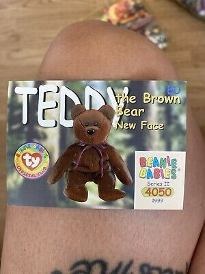 Ty Beanies Babies Series 2 Cards Teddy The Brown Bear New Face  • 17.80£