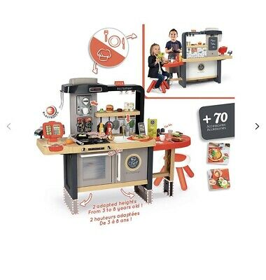 BNIB Smoby Chefs Restaurant/Kitchen With Real Running Water Function RRP £159.99 • 100£