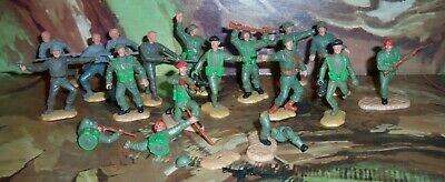 Job Lot Of The Timpo Toys World War II Plastic British, American, Older German? • 19.75£