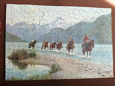 Vintage Wooden Jigsaw Puzzle • 4.99£