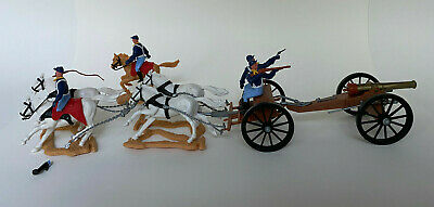 Timpo Wild West - Union Army Mounted Artillery Gun Carriage With Outrider • 12.99£