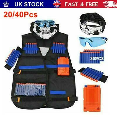 Kids Tactical Vest For Nerf Tactical Vest Guns Kid Vest Suit Kit Set Outdoor New • 10.64£