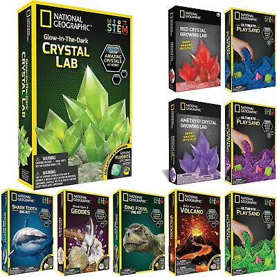 National Geographic STEM Science And Geology Kits Crystals, Shark, Gem Dig, Dino • 9.99£
