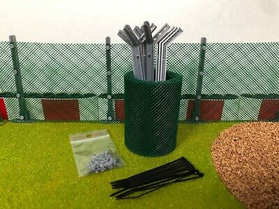 Scalextric Boarder Net Fencing With Posts - Angled • 11.90£