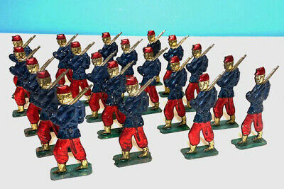 """20 Penny Toy Tin French Toy Soldiers, 2 ¾ """" Tall, Tin-Litho Ca.1900 • 37.70£"""