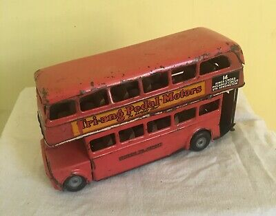 Vintage Triang Minic Tin Plate Friction Double Decker Bus • 20.99£