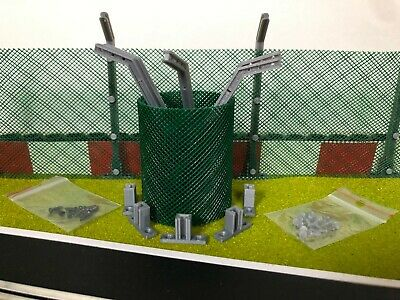 Scalextric Net Fencing With Posts And Base Supports - Angled • 8.90£