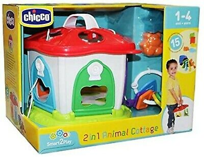 Chicco 2-in-1 Animal Cottage 1-4 Years 15 Shapes And Keys To Play With! • 19.95£