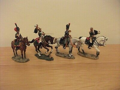4x DEL PRADO Metal Cavalry Of The Napoleonic Horseback Model Soldiers • 9.99£