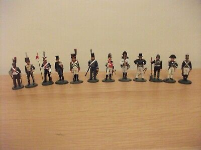 Del Prado Metal Napoleon At War Figures 12 Including Lord Horatio Nelson • 9.99£