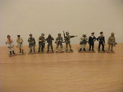 11 DEL PRADO MEN AT WAR WW2 WW1 And 1966  Toy Soldier Figures  • 9.99£