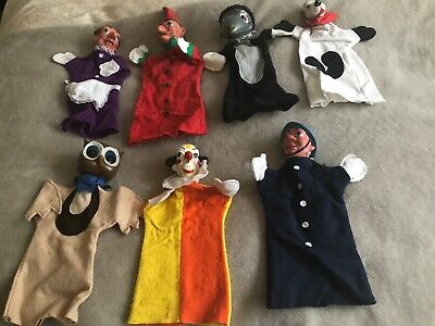 Pelham Glove/hand Puppets Punch &Judy - Vintage  X 7 Collectors  Early 1980's • 210£
