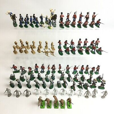 Vintage Toy Soldier Bundle Cowboy Army Infantry Cavalry Medieval Job Lot 301143 • 21.99£