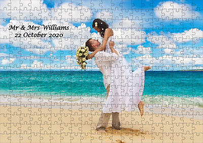 Personalised Jigsaw Puzzle - A3 - 300 Pieces - Great Gift - Your Photo And Text! • 8.99£