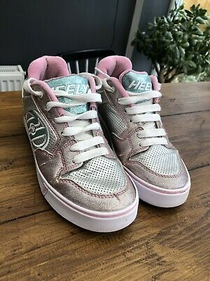 Heelys Size 4 Girls Pink Glittery Trainers • 3£