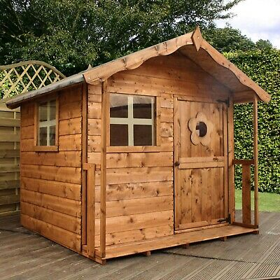 Wooden Garden Children's Playhouse 5x5 Outdoor Kids Wendy House 5ft X 5ft • 339.99£