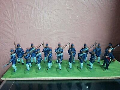 Airfix Type 1 32 Painted ACW Union Coloured Troops • 9£