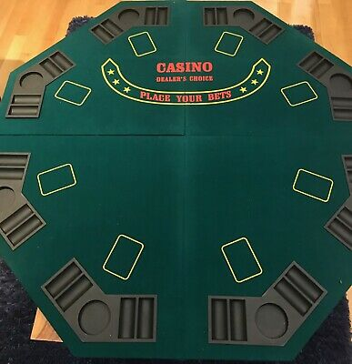 Folding Poker Table Top 8 Places. • 25£