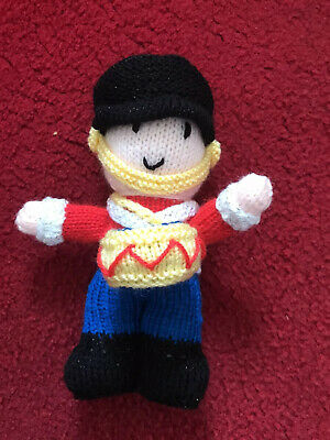 Brand New, Hand Knitted Doll - Toy Soldier/ Little Drummer Boy - Ideal Gift • 3.99£