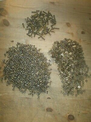 Vintage Meccano Large Job Lot  Brass Nuts & Bolts See Pictures • 26.30£