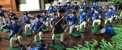 Britains AWI American Infantry Soldiers And Scouts • 50£
