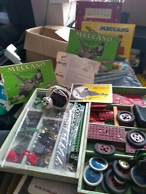 Vintage Meccano In Superb Condition With Building Manual's + A Box Of Magazines • 6.99£