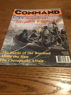 Command Magazine And Game #47 By XTR: Napoleon's Invasion Of England, And Attila • 14.99£