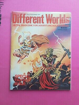 Different Worlds Magazine Issue 31 Nov 1983 - Chaosium Rpg Roleplay Stormbringer • 22.50£