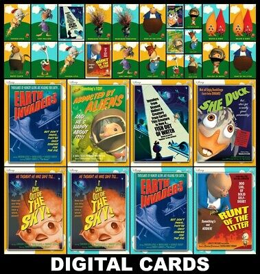 Topps Disney Collect CHICKEN LITTLE 15TH ANNIVERSARY [30 CARD FULL (4) SETS] • 3.86£